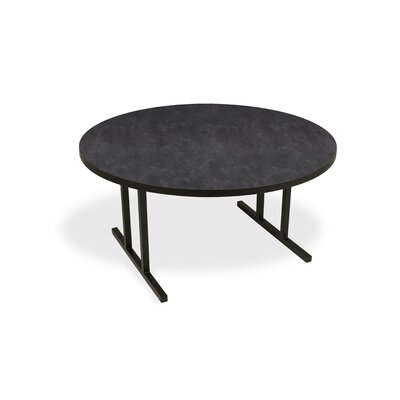 iDesign Circular 29.75H x 60W x 60L Conference Table Top Finish: Oiled Soapstone, Leg Finish: Black