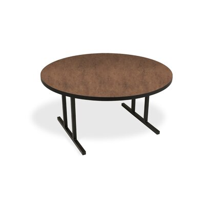 iDesign Circular 29.75H x 60W x 60L Conference Table Top Finish: Flamed Soapstone, Leg Finish: Black