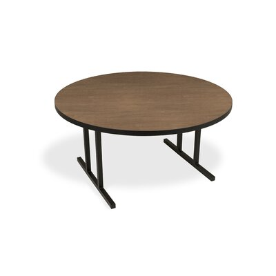 iDesign Circular 29.75H x 60W x 60L Conference Table Top Finish: River Cherry, Leg Finish: Black
