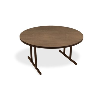 iDesign Circular 29.75H x 60W x 60L Conference Table Top Finish: River Cherry, Leg Finish: Matte Walnut