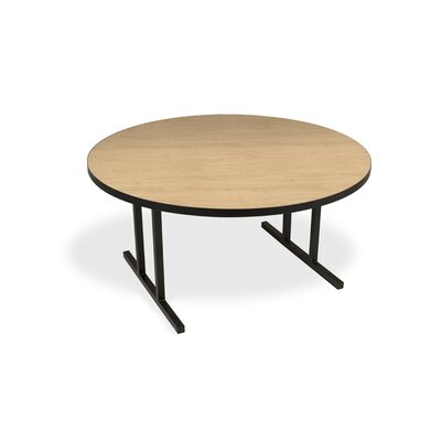 iDesign Circular 29.75H x 60W x 60L Conference Table Top Finish: Kensington Maple, Leg Finish: Black