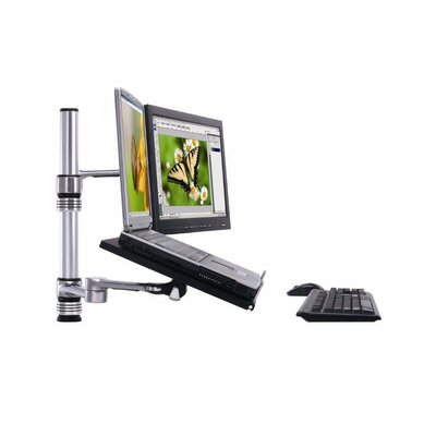 TaskMate Laptop Holder Height Adjustable 2 Screen Desk mount