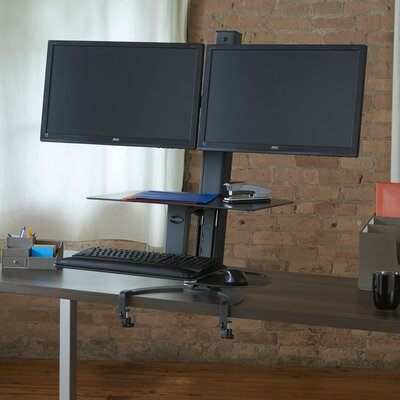 TaskMate Go Heigh Adjustable 2 Screen Workstation