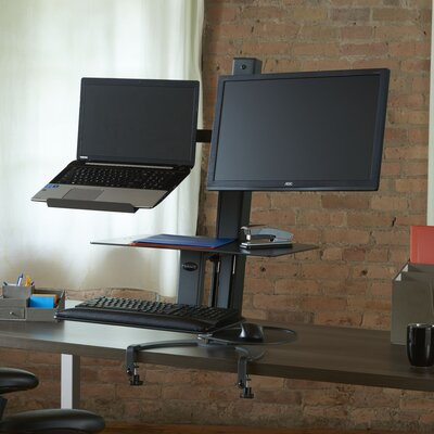 TaskMate Go Height Adjustable 2 Screen Workstation