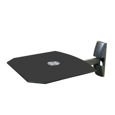 Single Wall Mount Shelf for DVD VCR Cable Box, PS3, XBOX, Stereo Blu - Ray Components MI-811B