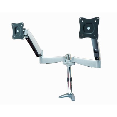 Full Motion Monitor Desk Mount with Height Adjustable 2 Screen Desk Mount