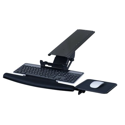Fully Adjustable Ergonomic 7 H x 22 W Desk Keyboard Platform