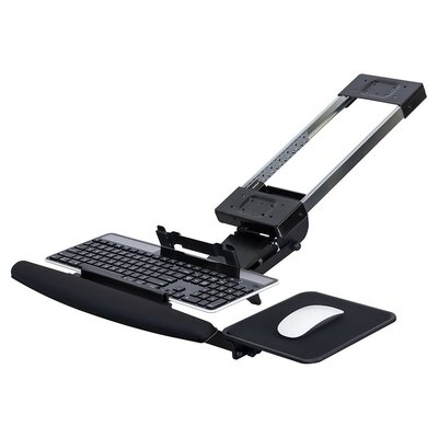 Fully Adjustable Ergonomic 9 H x 22 W Desk Keyboard Platform