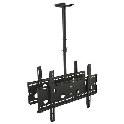 Dual Screen Rotating Tilt Ceiling Mount 32-75 LCD/Plasma/LED