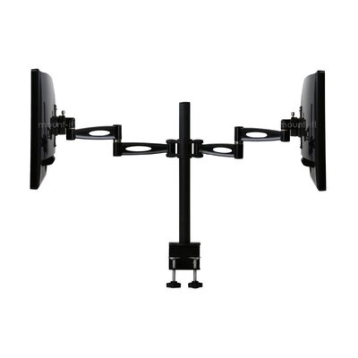 Articulating Dual Arm 2 Screen Desk Mount