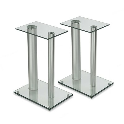 Satellite Glass 18.25 Fixed Height Speaker Stand Finish: Silver