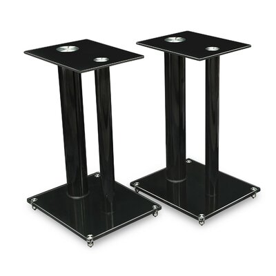 Satellite Glass 18.25 Fixed Height Speaker Stand Finish: Black