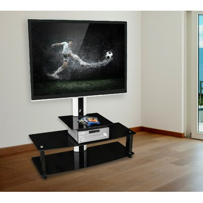 TV Stand with Mount and 3 Glass Shelves MI-869