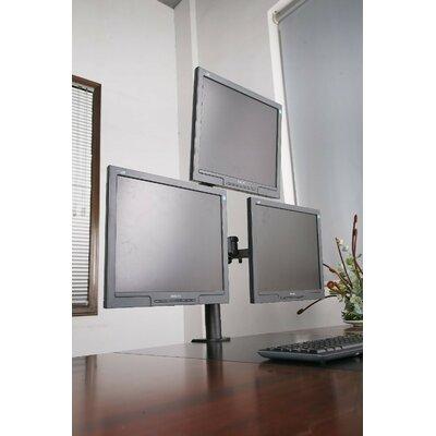 Horizontal Row Height Adjustable 3 Screen Desk Mount