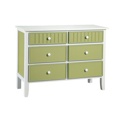 Credit for 6 Drawer Dresser Finish: White and ...
