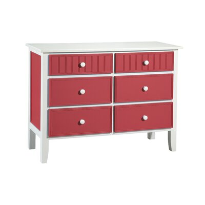No credit financing 6 Drawer Dresser Finish: White and ...