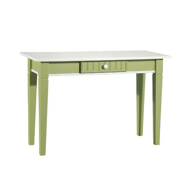 Console Table Finish: White & Lime Green