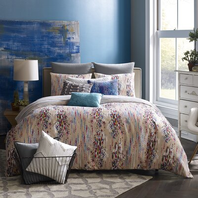 Mexico City Bellas Artes 3 Piece Reversible Duvet Cover Set Size: Queen