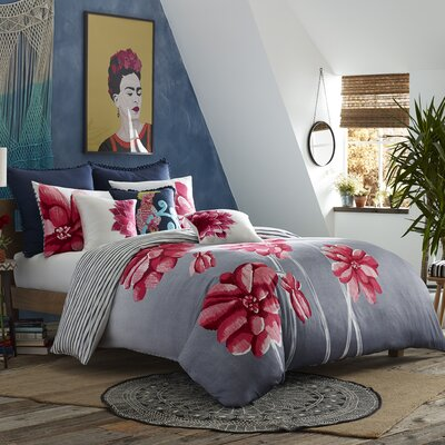 Mexico City Frida 3 Piece Duvet Cover Set Size: King