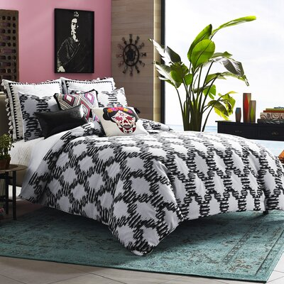 Mexico City Zocalo 3 Piece Duvet Cover Set Size: Queen