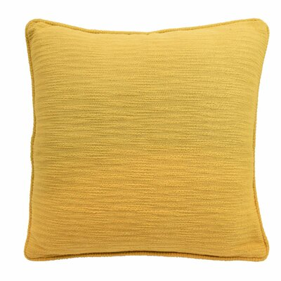 Yasmine Textured Throw Pillow Color: Golden Yellow