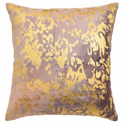 Aya Metallic Print Throw Pillow