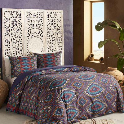 3 Piece Berber Textile Duvet Set Size: Full/Queen