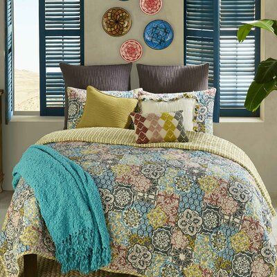 3 Piece Riyadh Reversible Quilt Set Size: King