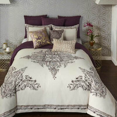 3 Piece Bahia Palace Duvet Set Size: King