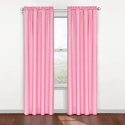Tiny Dots Blackout Thermal Curtain Panel Color: Pink