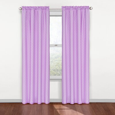 Tiny Dots Blackout Thermal Curtain Panel Color: Purple