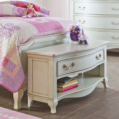 Briton Wood Storage Bedroom Bench Finish: Antique Silver
