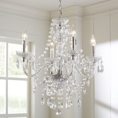 Ice Palace 4-Light Crystal Chandelier Color: Clear