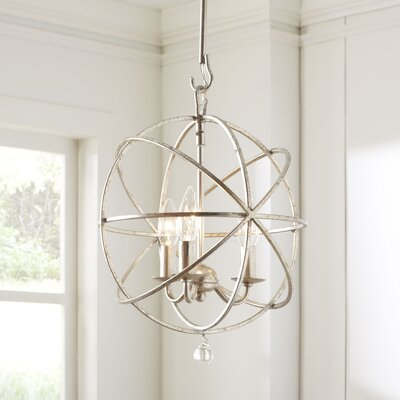 3-Light Globe Pendant Finish: Silver
