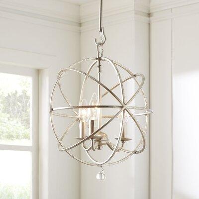 3-Light Globe Pendant Finish: Silver