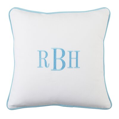 Classic Monogrammed Pillow Cover Color: Aqua