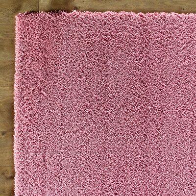 Shaggy Pink Rug Rug Size: 2'3