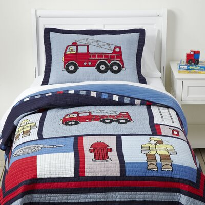 Code Red Quilted Bedding Set Size: Twin