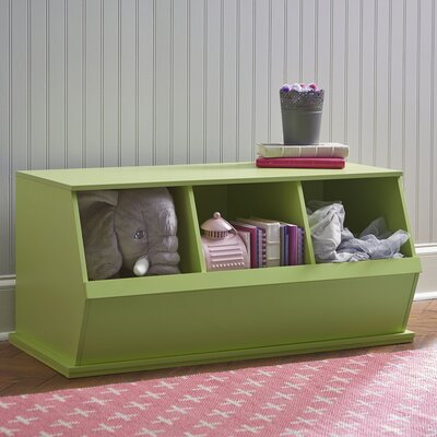 Go-To Storage Cubby Color: Green, Bins: 3
