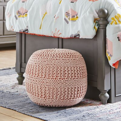 Neat Knit Pouf Color: Pink