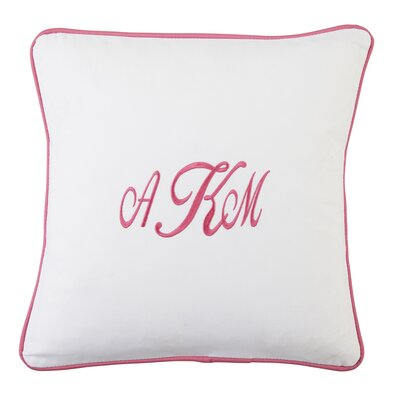 Classic Monogrammed Pillow Cover Color: Fuchsia