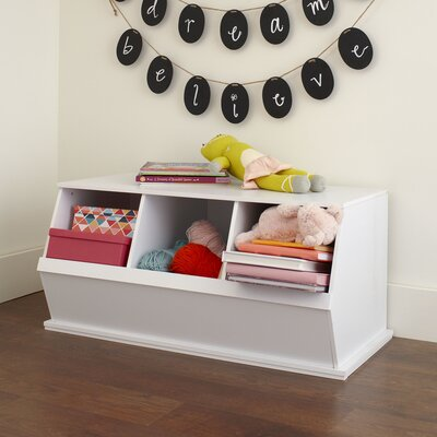 Go-To Storage Cubby Color: White, Bins: 3