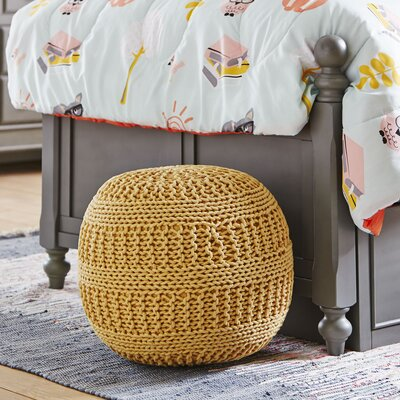 Neat Knit Pouf Color: Yellow