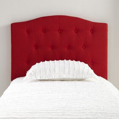 Lockhart Twin Upholstered Headboard Color: Red