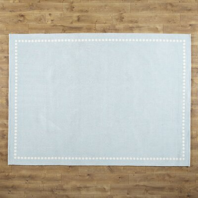Dotted Line Blue Area Rug
