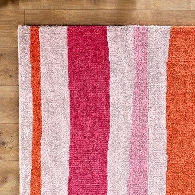 Candy Orange/Pink Area Rug Rug Size: Rectangle 8 x 11