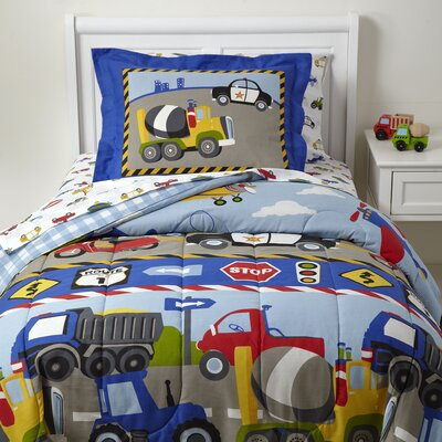 Busy Streets 5-Piece Bedding Set