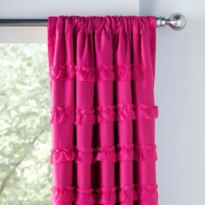 Ruffled Blackout Thermal Single Curtain Panel