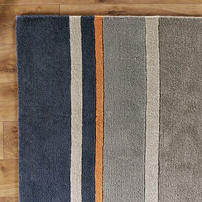 Dark Periwinkle Area Rug Rug Size: Rectangle 6 x 9