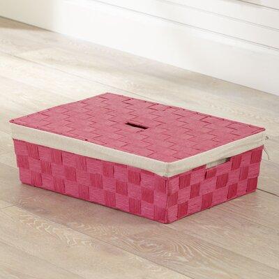 Lidded Underbed Basket Color: Pink